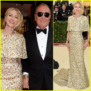 Naomi Watts Looks Regal in Ornate Gold Dress at Met Gala 2018