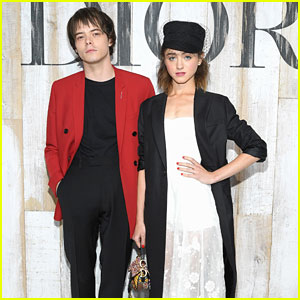Natalia Dyer & Charlie Heaton Couple Up at Christian Dior Couture Cruise Collection Photo Call