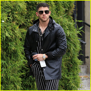 Nick Jonas Shows Off His Stripes While on a Coffee Run in West Hollywood!