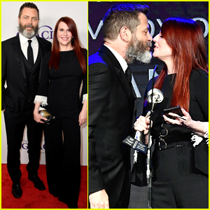Nick Offerman Honors Wife Megan Mullally at Gracie Awards 2018!