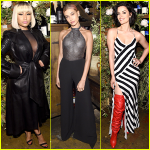Nicki Minaj, Hailey Baldwin, & Jaimie Alexander Attend Elle x Stuart Weitzman Party