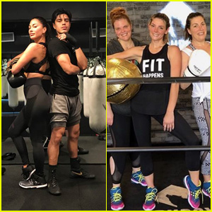 Nicole Scherzinger & Ashley Greene Get in a Workout at CruBox!