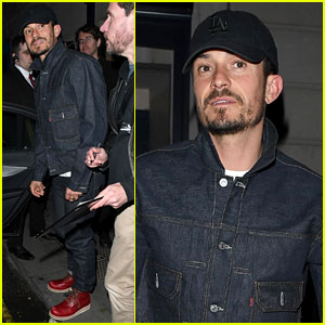 Orlando Bloom Goes for Denim-on-Denim Look at 'Killer Joe' Rehearsals