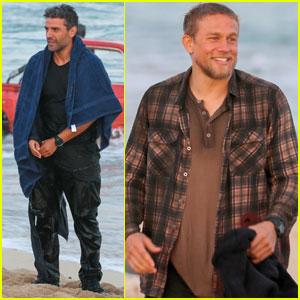 Charlie Hunnam & Oscar Isaac Wrap Filming 'Triple Frontier'