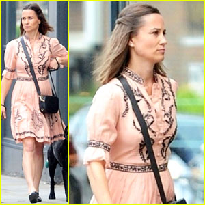 Pregnant Pippa Middleton Steps Out for Dog Walk in London
