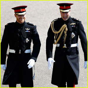 Prince Harry (with Beard Intact!) Arrives for Royal Wedding with Prince William!