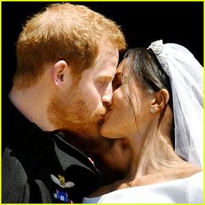 Prince Harry & Meghan Markle Share First Kiss as Newlyweds!