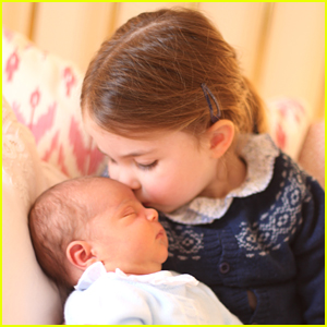 Princess Charlotte Kisses Baby Brother Prince Louis in Adorable New Photos!