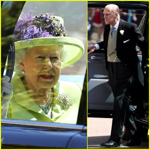 Queen Elizabeth & Prince Phillip Arrive at Grandson's Royal Wedding! (VIDEO)