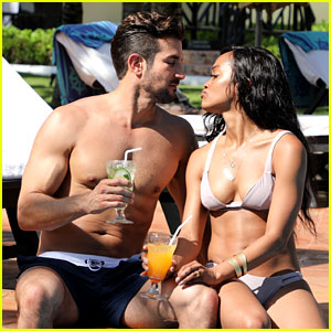 The Bachelorette' Rachel Lindsay & Bryan Abasolo Relax by the Pool in Mexico