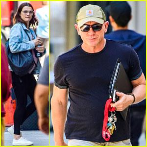 Daniel Craig & Pregnant Rachel Weisz Step Out in New York