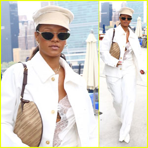 Rihanna Steps Out in a White Hot Outfit for Lunch in NYC!