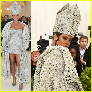 Rihanna Channels the Pope at Met Gala 2018