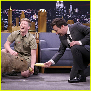 Robert Irwin & Jimmy Fallon Feed Pygmy Goats Named After the Cast of 'Friends'  - Watch Now!