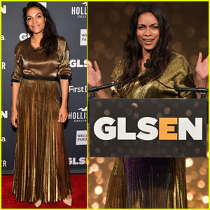 Rosario Dawson Receives Inspiration Award at GLSEN Respect Awards!