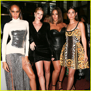 Rosie Huntington-Whiteley, Ashley Graham & More Buddy Up at Versace Met Gala 2018 After Party!