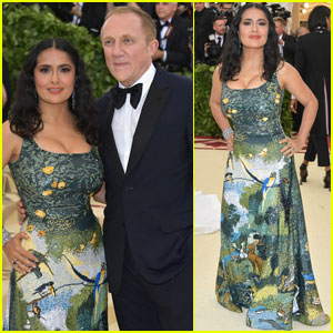 Salma Hayek & Francois-Henri Pinault Couple Up at Met Gala 2018!