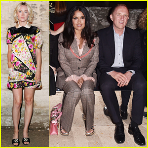 Salma Hayek, Saoirse Ronan & More Step Out for Gucci Cruise Fashion Show!