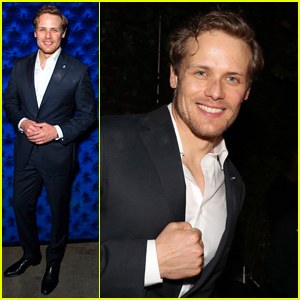 Sam Heughan Is All Smiles at Harry Josh Pro Tools' 5th Anniversary Party!