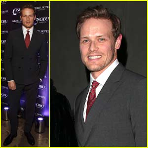 Sam Heughan Stops By Nobu Hotel's Launch Party in London!