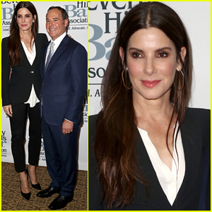 Sandra Bullock Supports Lawyer Cliff Gilbert-Lurie at Entertainment Lawyer Dinner!