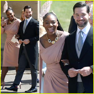 Serena Williams Holds on Close to Alexis Ohanian Arriving at Royal Wedding!