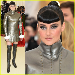 Shailene Woodley Stuns in Silver at Met Gala 2018