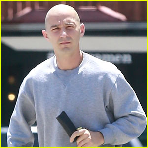 Shia LaBeouf Puts Bald Head on Display While Running Errands