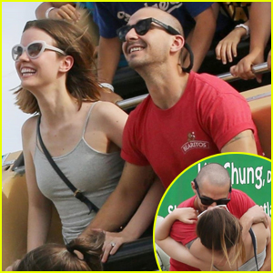 Shia LaBeouf & Mia Goth Pack on PDA at the Carnival!