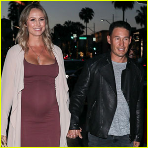 Pregnant Stacy Keibler Shows Off Baby Bump in Form-Fitting Dress!
