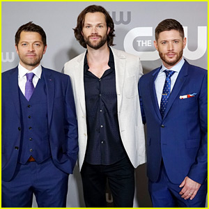 'Supernatural' Guys Jared Padalecki, Jensen Ackles & Misha Collins Suit Up Sharp For CW Upfronts 2018