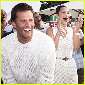 Tom Brady Throws Footballs in Monaco with Bella Hadid!