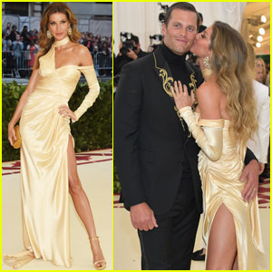 Tom Brady & Gisele Bundchen Share a Kiss at Met Gala 2018!