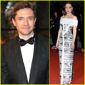 Topher Grace Joins Lea Seydoux at 'Under the Silver Lake' Cannes Premiere