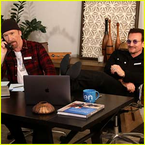 Bono & The Edge Fill In as Ellen DeGeneres' Assistants in Hilarious Video