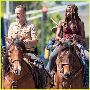 'Walking Dead' Set Photos Show Cast on Horseback for Season 9