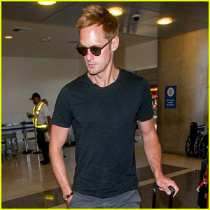 Alexander Skarsgard Wears His Favorite Airport Outfit at LAX