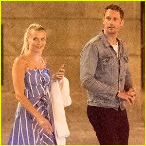 Alexander Skarsgard Steps Out with Mystery Blonde in Paris