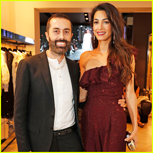 Amal Clooney Steps Out To Support Giambattista Valli at London Store Opening!