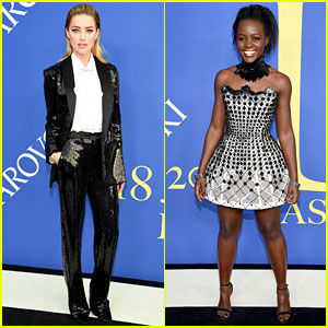 Amber Heard & Lupita Nyong'o Dazzle at CFDA Fashion Awards