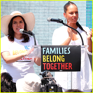 America Ferrera & Alicia Keys Give Powerful Speeches at Families Belong Together Rally in Washington D.C.