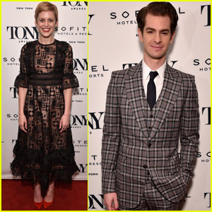 Andrew Garfield & Denise Gough Celebrate at Tony Honors Cocktail Party