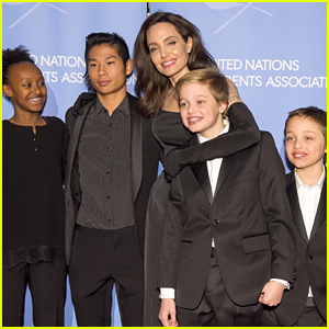 Angelina Jolie Celebrates 43rd Birthday Riding Roller Coaster with Her Kids!