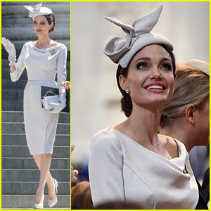 Angelina Jolie Stuns at Order of St. Michael & St. George Service in London