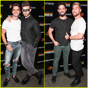 Antoni Porowski & Nico Tortorella Buddy Up at 'The Path To Pride' Performance!