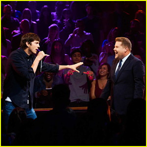 Ashton Kutcher & James Corden Burn Each Other with Epic 'Drop The Mic' Rap Battle!