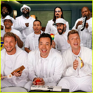 Backstreet Boys Sing 'I Want It That Way' with Jimmy Fallon Using Classroom Instruments (Video)