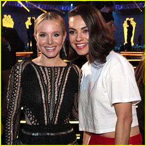 Bad Moms' Mila Kunis & Kristen Bell Reunite at MTV Movie & TV Awards 2018!