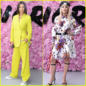 Bella Hadid & Rita Ora Step Out for Dior Homme's Paris Show