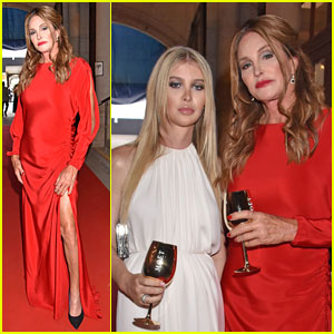 Caitlyn Jenner & Sophia Hutchins Take Photos Together at Life Ball 2018